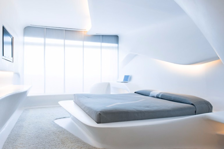 zaha hadid Modern Bedroom Inspirations by Zaha Hadid Hotel puerta america zaha hadid bedroom design luxury inspiration white master bedroom interiors home decor