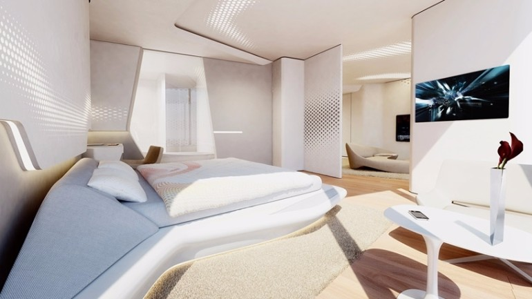 zaha hadid Modern Bedroom Inspirations by Zaha Hadid Zaha hadid dubai opus office tower modern master bedroom design contemporary design ideas bedroom inspiration ideas