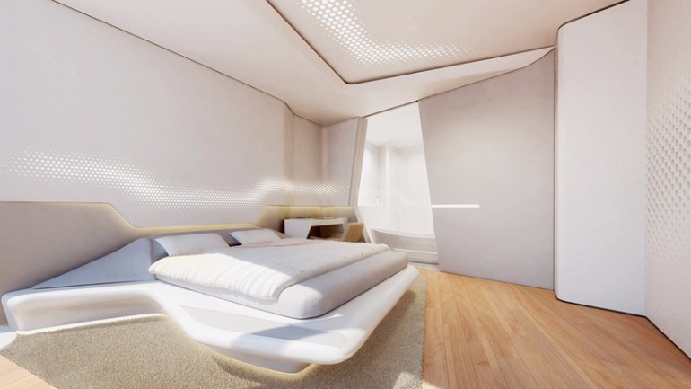 zaha hadid Modern Bedroom Inspirations by Zaha Hadid Zaha hadid dubai opus office tower modern master bedroom design contemporary design ideas bedroom inspiration
