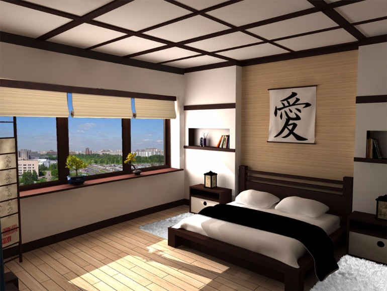 japanese bedroom Discover 10 Striking Japanese Bedroom Designs black and white japanese inspired beautiful modern master bedroom design idea room ideas bedroom inspiration