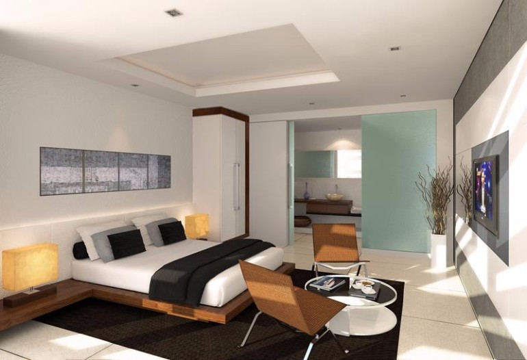 10 sleek and modern master bedroom designs master for Clean bedroom designs