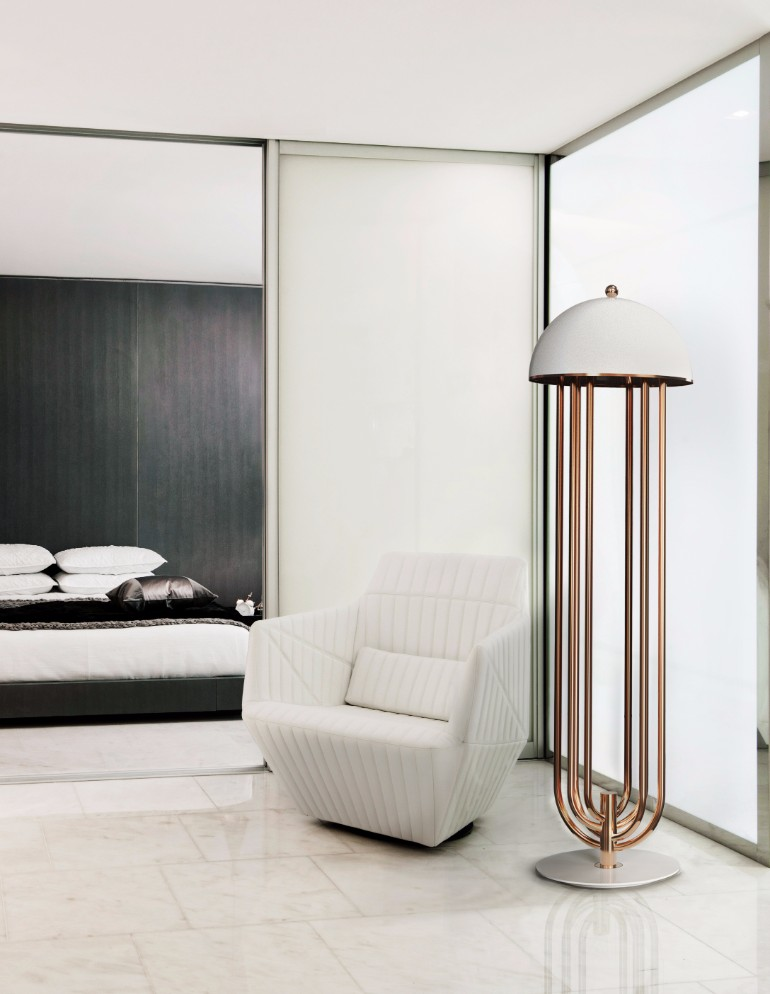 lighting design Lighting Design ideas for Contemporary Master Bedrooms delightfull turner art deco floor hotel lounge corner lamp 02