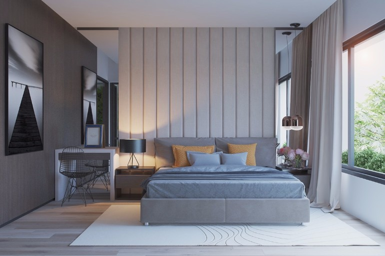 grey bedroom design bedroom color schemes master bedroom Grey Master Bedrooms With A Glimpse Of Color grey gray bedroom design yellow pillows decor ideas master bedroom design inspiration with glimpse of color
