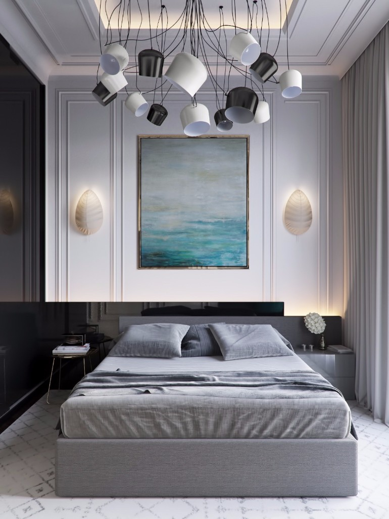 grey bedroom inspiration ideas  master bedroom Grey Master Bedrooms With A Glimpse Of Color grey master bedroom design inspiration with amazing chandelier for master bedroom interior design inspiration