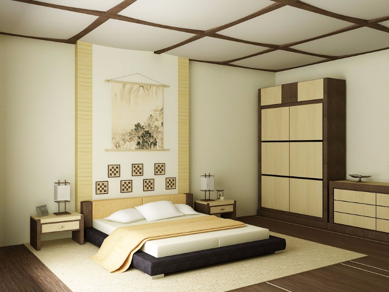 harmonious creamy japanese bedroom design japanese bedroom Discover 10 Striking Japanese Bedroom Designs inspired bedroom inspiration with cream tones and wooden furniture for modern master bedroom design room ideas contemporary japanese design