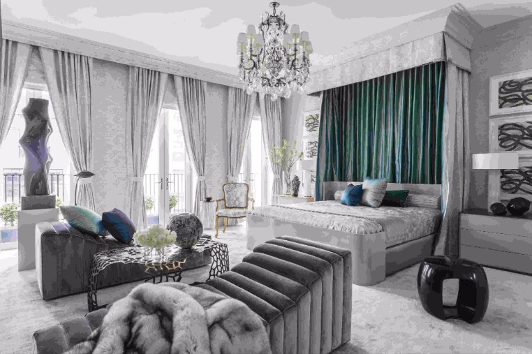 Jamie Drake grey bedroom design ideas for master bedroom decor jamie drake Bedrooms by Top Interior Designers: Jamie Drake jamie drake kips bay show hows modern master bedroom inspirations interior design home decor modern design jamie drake design ideas modern decor