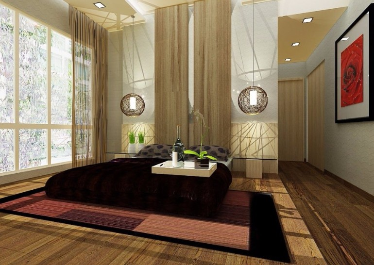 japanese bedroom Discover 10 Striking Japanese Bedroom Designs japanese styled beautiful bedroom design wooden flooring brown accessories master bedroom ideas interior design ideas room design