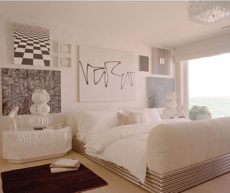 master bedrooms by top interior designers: kelly wearstler top interior designers Bedrooms by Top Interior Designers: Kelly Wearstler malibu beach residence master bedroom design home decor ideas kelly wearstler modern design