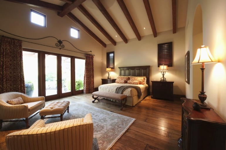 Delightful master bedrooms with hardwood floors master for Master bedroom flooring ideas