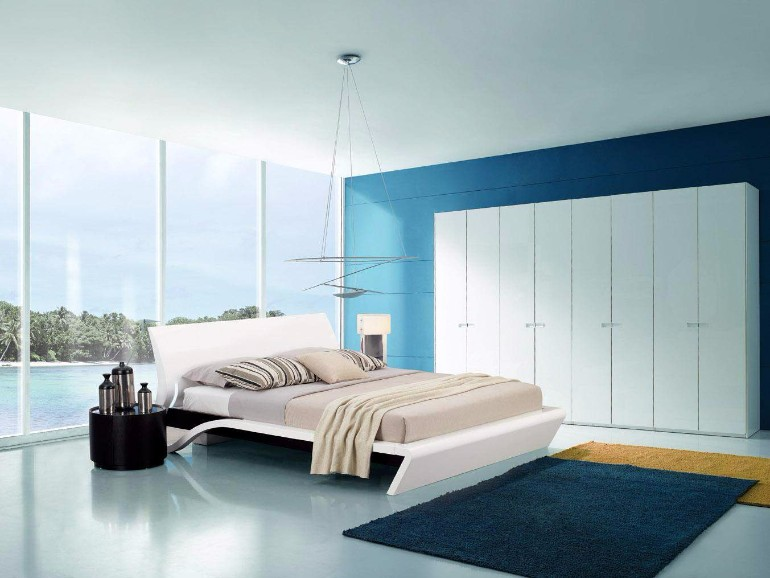master bedroom 10 Sleek and Modern Master Bedroom Designs sleek and modern blue master bedroom design ideas modern touch contemporary home room idas 1