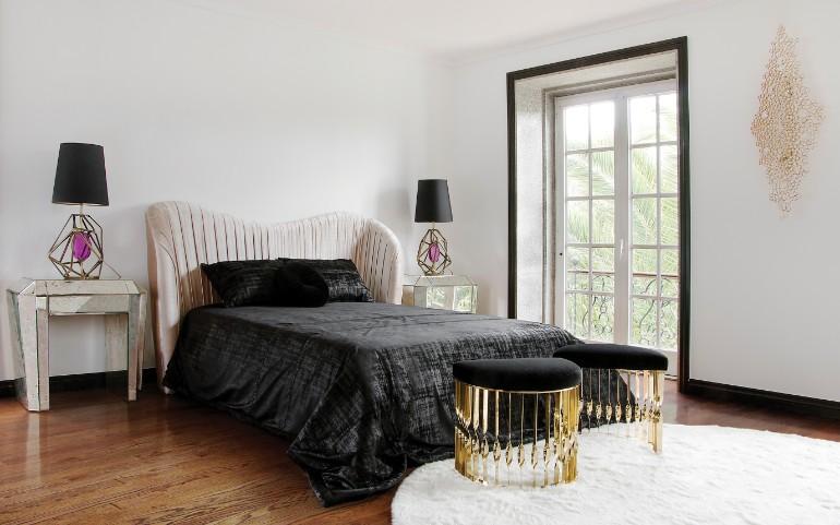 master bedroom Delightful Master Bedrooms with Hardwood Floors tamara nightstand koket master bedroom design