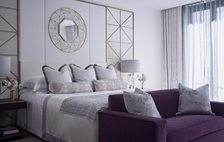 bedroom design Bedroom Designs by Top Interior Designers: TAYLOR HOWES Taylor Howes One Kensington Gardens luxury design modern bedroom ideas silver nightstand mirror master bedroom decor interior design master bedroom ideas modern design