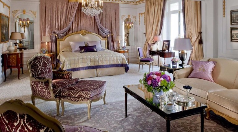 luxury hotel room 10 Sumptuous Luxury Hotel Room Designs The Royal Suite at the H  tel Plaza Ath  n  e luxurious hotel room luxury bedroom hotels bedroom inspiration ideas master bedroom design