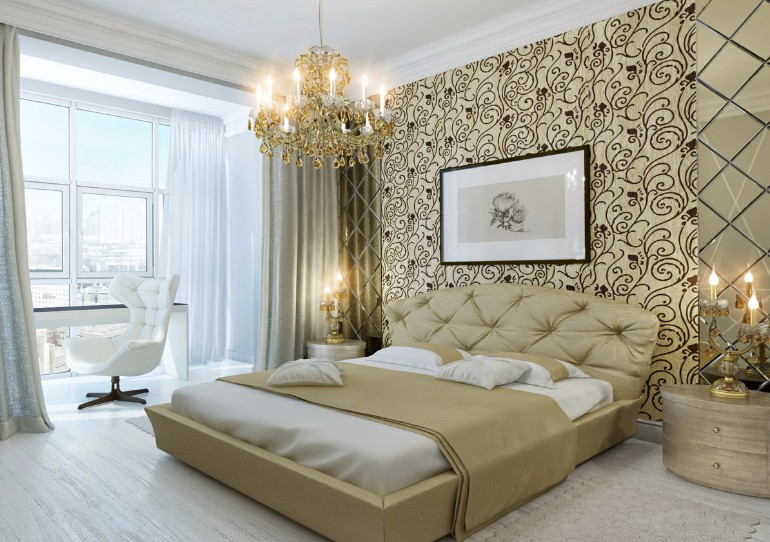 master bedroom Splendid Master Bedrooms with Golden Chandeliers beautiful white pretty bedroom golden chandelier master bedroom design modern bedroom ideas contemporary classical masterbedroom