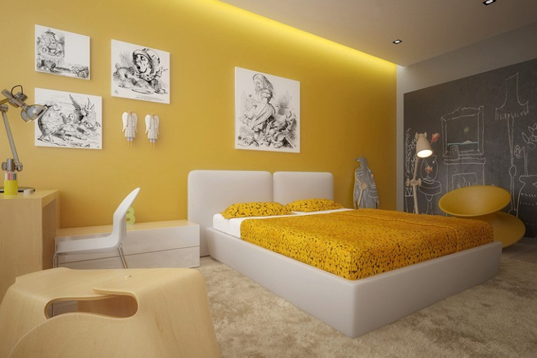 color palette Vivid Color Palettes for your Bedroom beautiful yellow and white bedroom decor color pallette bedroom inspiration ideas modern master bedroom design