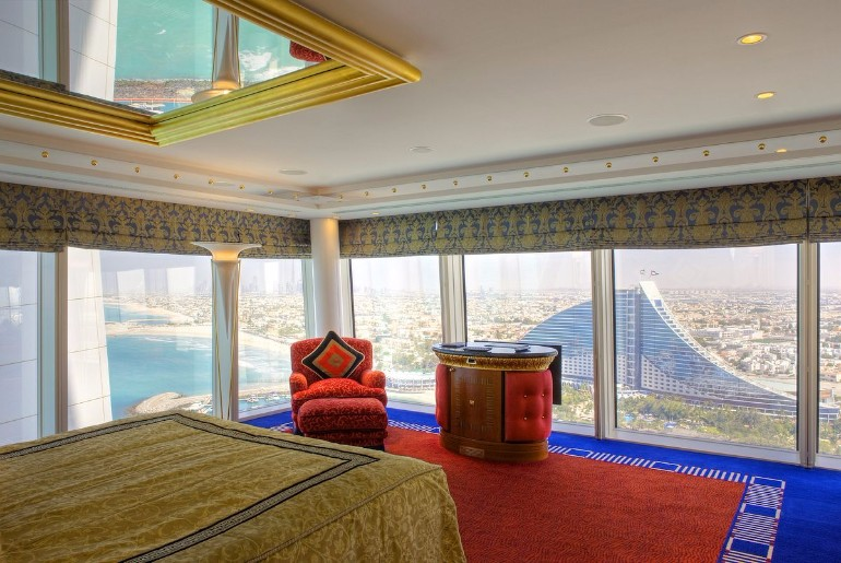dream bedroom Dream bedrooms from all around the world Pt I burj al arab jumeira bedroom fresh minimalist arabian decor rich colors lavish textiles d  cor style