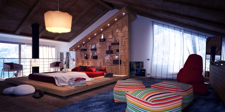 master bedroom Master Bedrooms with Striking Wood Panel Designs colorful attic design master bedroom inspiration ideas modern master bedroom inspiration