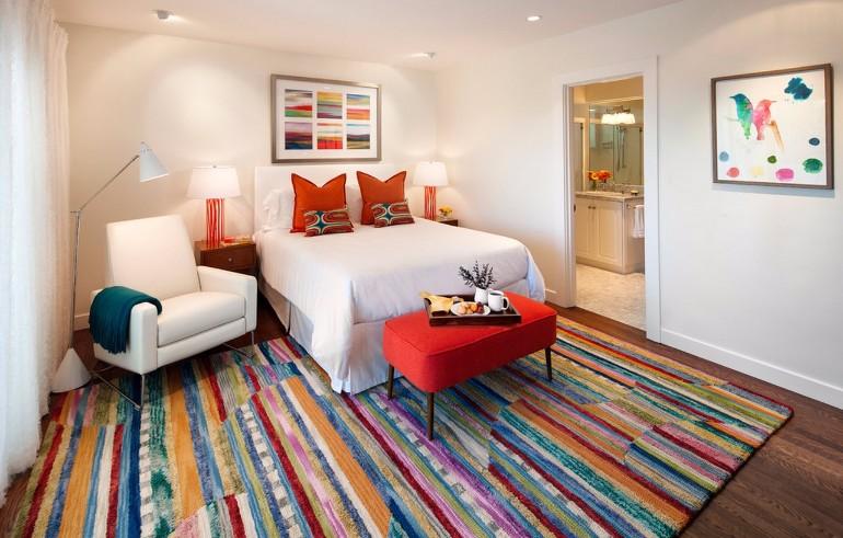 color palette Vivid Color Palettes for your Bedroom contemporary colorful bedroom design concept modern bedroom ideas interior design