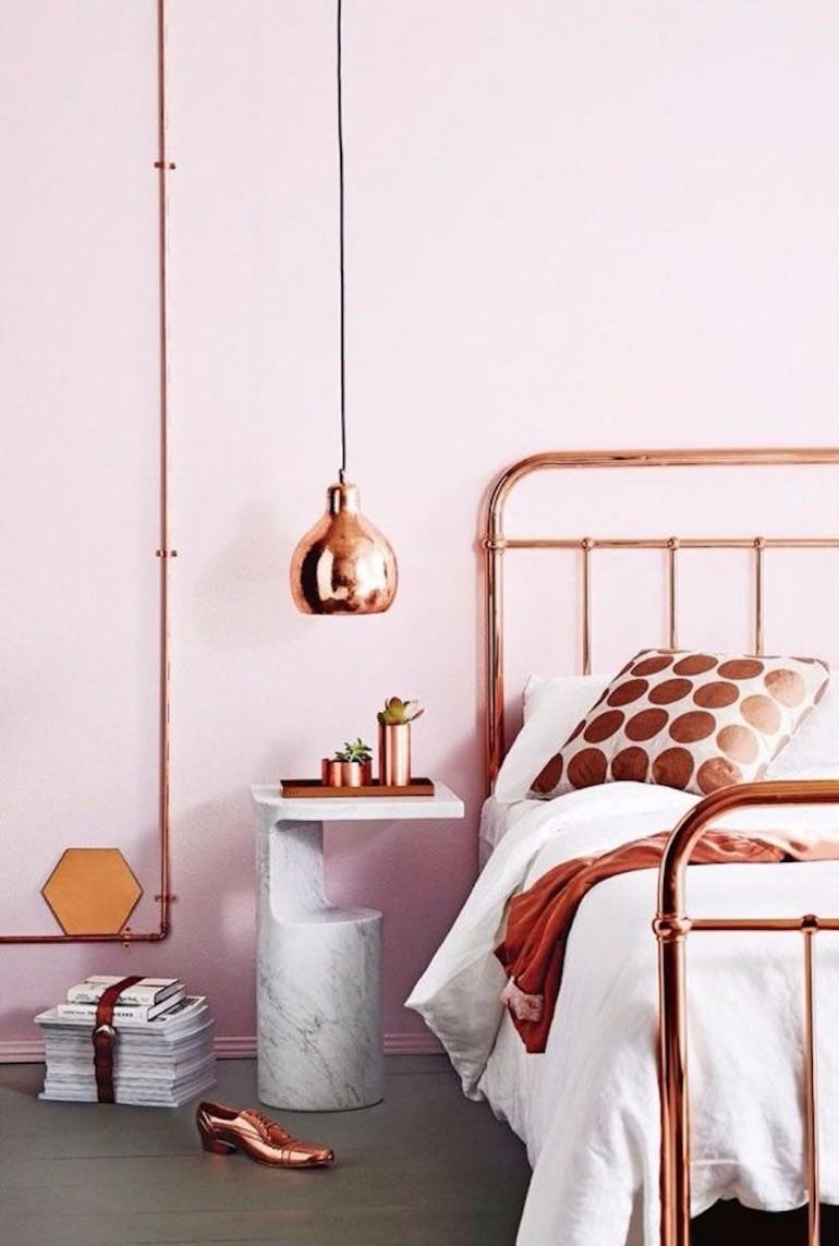 color palette Vivid Color Palettes for your Bedroom copper bedroom decor ideas modern bedroom pendant lamp master bedroom design bedroom inspiration