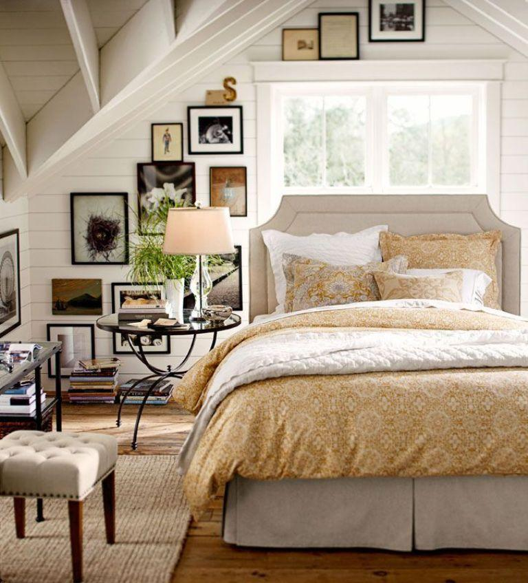 cozy bedroom Cozy Bedroom Décor in Farmhouse Style cozy bedroom inspiration golden tones farmhouse style interior design master bed room ideas golden rug