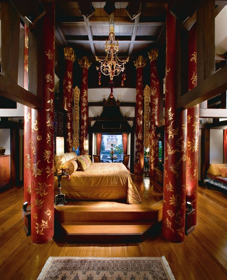 dream bedroom Dream bedrooms from all around the world Pt I dhara devi chiang mai royal bedroom rich oriental colors precious silks luxurious comfort luxury bedroom modern bedroom design 2017