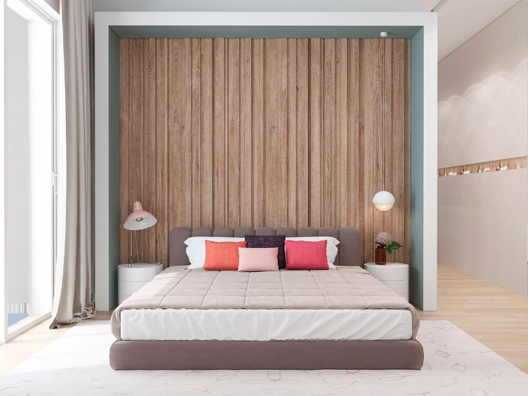 master bedroom Master Bedrooms with Striking Wood Panel Designs gorgeous modern master bedroom inspiration wood panels bedroom design ideas modern master bedroom design