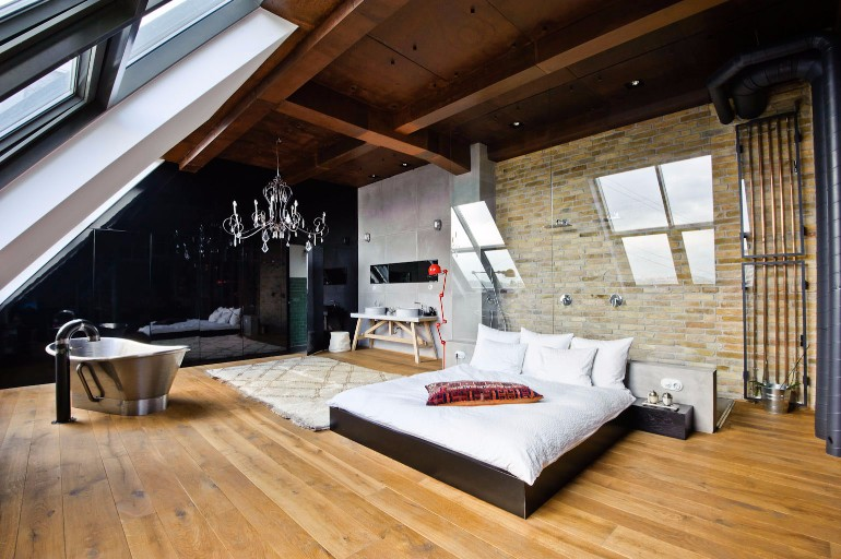 loft interior Loft Interiors With Marvelous Bedrooms gorgeous pretty beautiful loft interior modern bedroom ideas master bedroom decor inspiration design