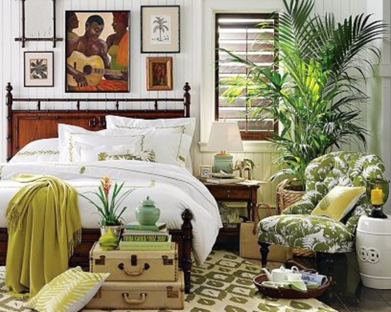 bedroom inspiration Summer Trends 2017: Bedroom Inspiration With Tropical Design gorgeous tropical bedroom design with african art and inspiration and an inside palm tree bedroom inspiration master bedroom ideas modern bedroom design