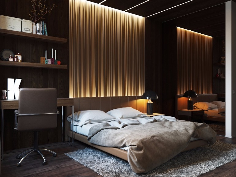 lighting design Stunning Bedrooms with Unique Lighting Designs gorgeous wall lighting ideas modern master bedroom design inspiration golden warm tones master bedroom design