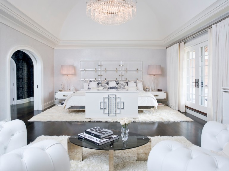 Art Deco 9 Marvelous Master Bedrooms in Art Deco Style gorgeous white art deco bedroom master bedroom inspiration bedroom ideas modern bedroom design concept room ideas bedroom design white black tones 1
