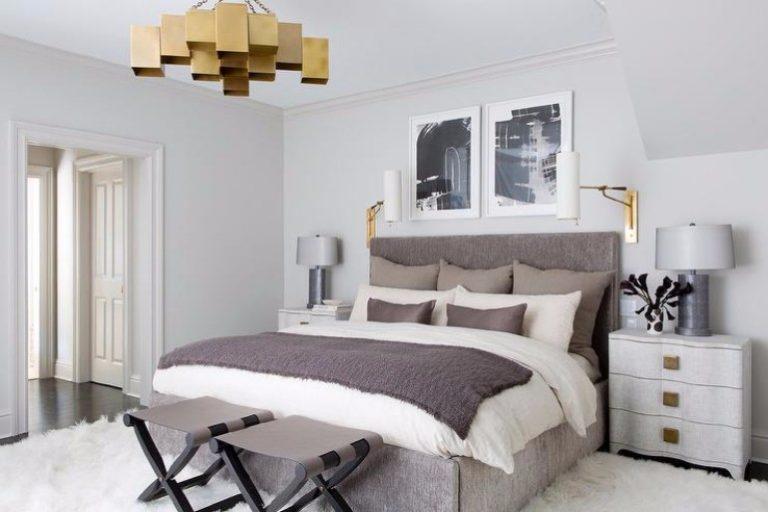 splendid master bedrooms with golden chandeliers