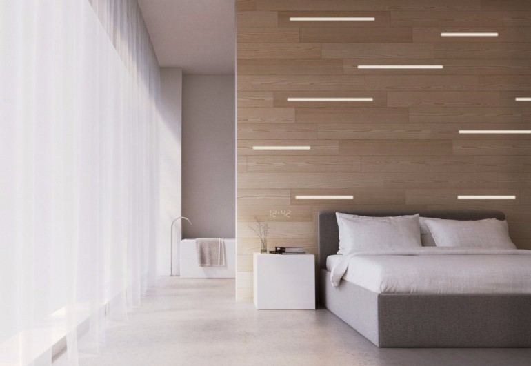 master bedroom Master Bedrooms with Striking Wood Panel Designs ultra modern master bedroom design with light colors and striking wood panels bedroom inspiration ideas modern design