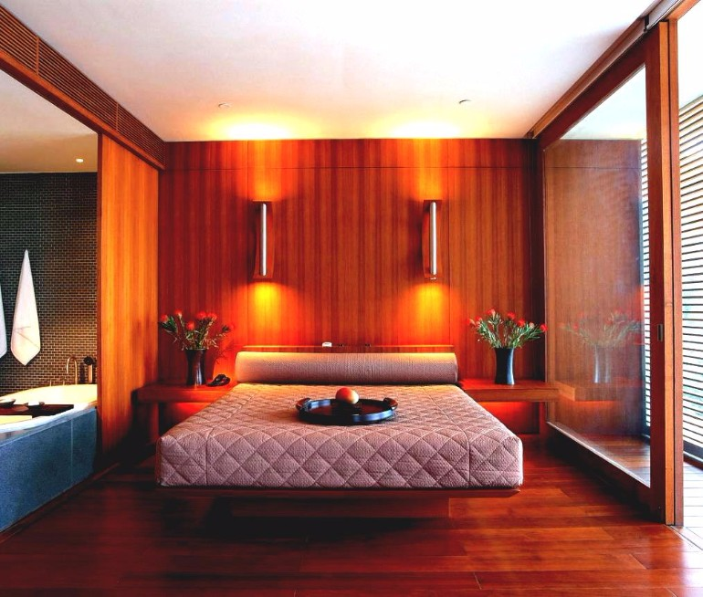 master bedroom Discover the Trendiest Master Bedroom Designs in 2017 unique bedroom ideas beautiful dark brown wood glassdesign masterwall wood walled wood bed wood floor wall lamp flower fas mattres smallinterior design
