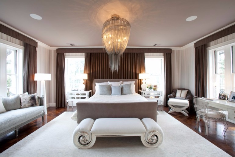 Art Deco 9 Marvelous Master Bedrooms in Art Deco Style white toned art deco bedroom design ideas modern master bedroom concept master bedroom design white brown tones modern bedroom decor 1