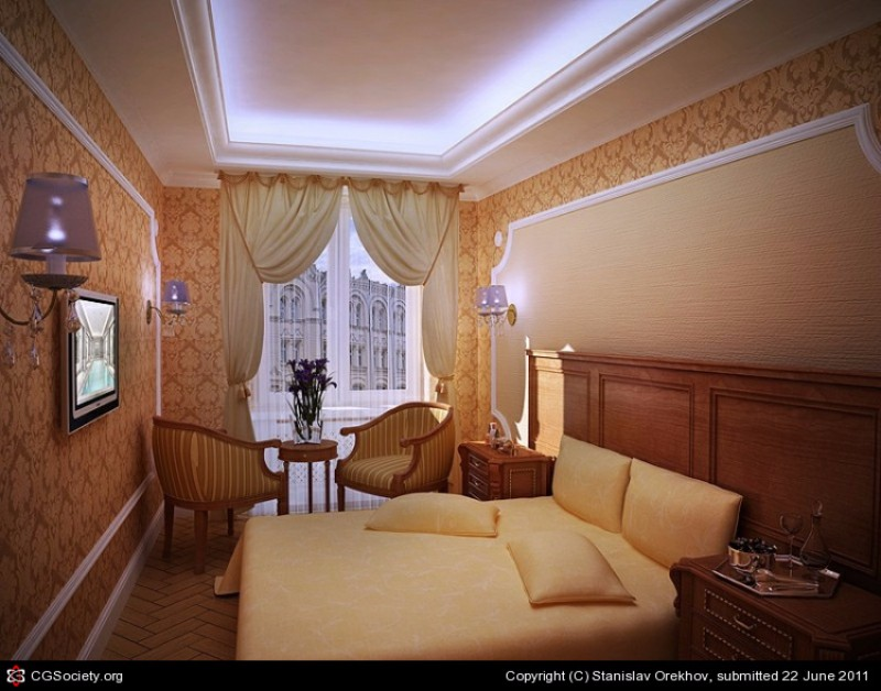 bedroom design Bedroom Designs by Top Interior Designers: Stanislav Orekhov Classical Hotel Room Design By Stanislav Orekhov Modern Master Bedroom Bedroom DEsign