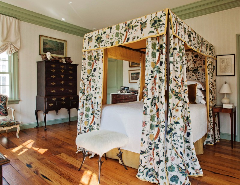 bedroom design Bedroom Designs By Top Interior Designers: Robert Couturier Connecticut House by Robert Couturier beautiful armoire floral patterns modern bedroom inspiration ideas