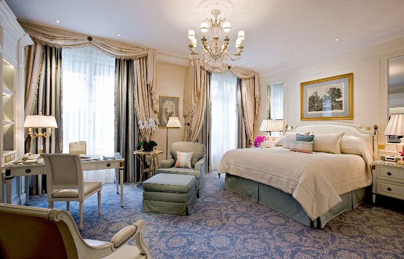 bedroom design Bedroom Designs by Top Interior Designers: Pierre-Yves Rochon Four Seasons George V Pierre Yves Rochon opulent luxury master bedroom ideas modern glamorous bedroom design 2