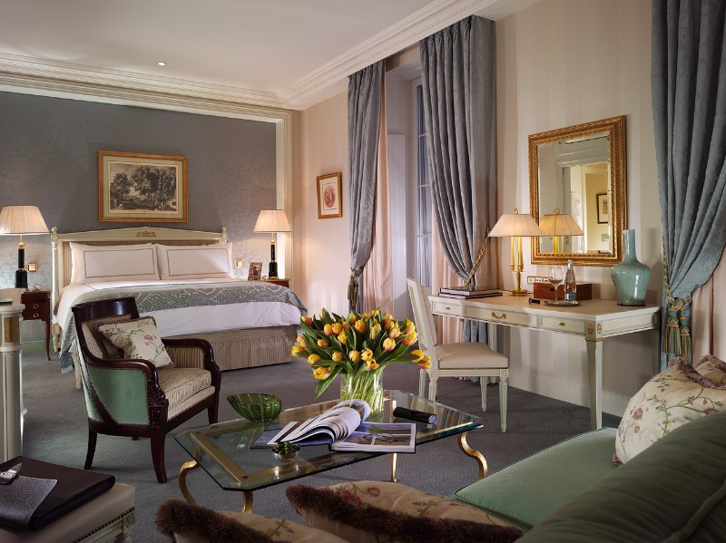 bedroom design Bedroom Designs by Top Interior Designers: Pierre-Yves Rochon Four Seasons Hotel Des Bergues Pierre Yves Rochon opulent luxury master bedroom ideas interior design 2
