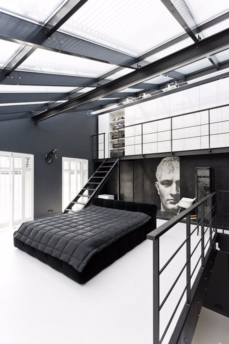 how to decorate your room How To Decorate Your Room In Black And White Industrial style monochrome black white master bedroom design ideas interior design