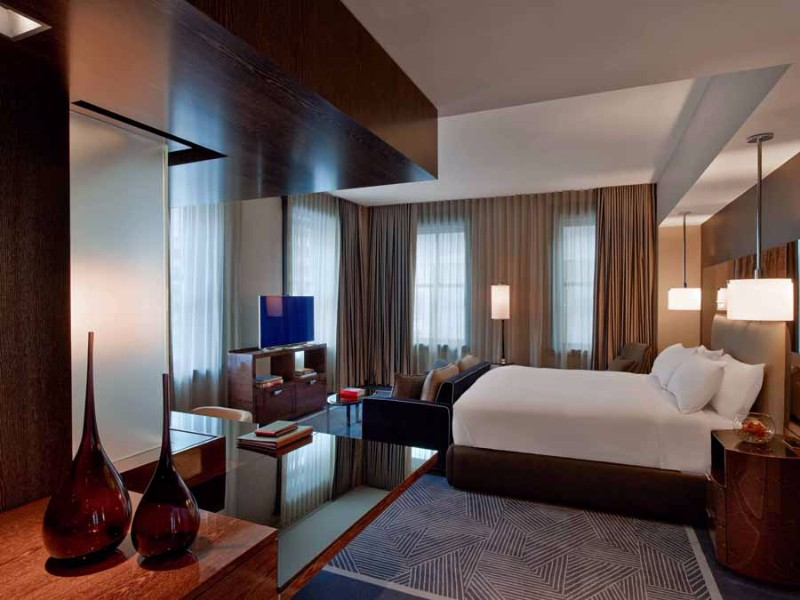 Bedroom design Bedroom Designs by Top Interior Designers: Tihany Design Joule Hotel Dallas Guest Rooms Suites Tihany Design bedroom decor ideas modern master bedroom
