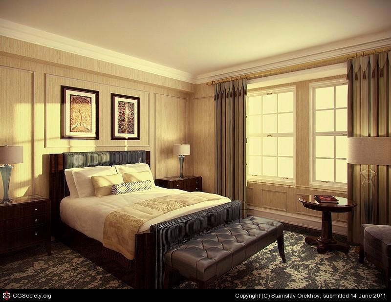 bedroom design Bedroom Designs by Top Interior Designers: Stanislav Orekhov Mid century modern bedroom interior by stanislav orekhov