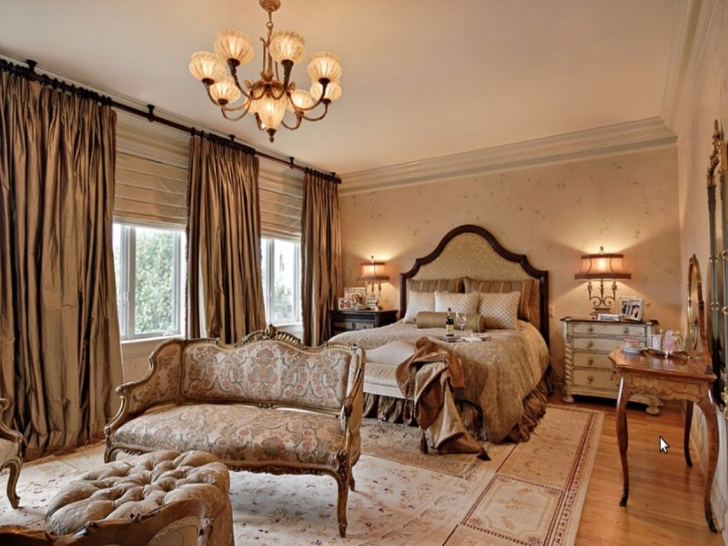 french style 10 French Style Master Bedrooms Opulent French Style Master Bedroom Inspiration Iideas crystal chandelier cream tones rococo design