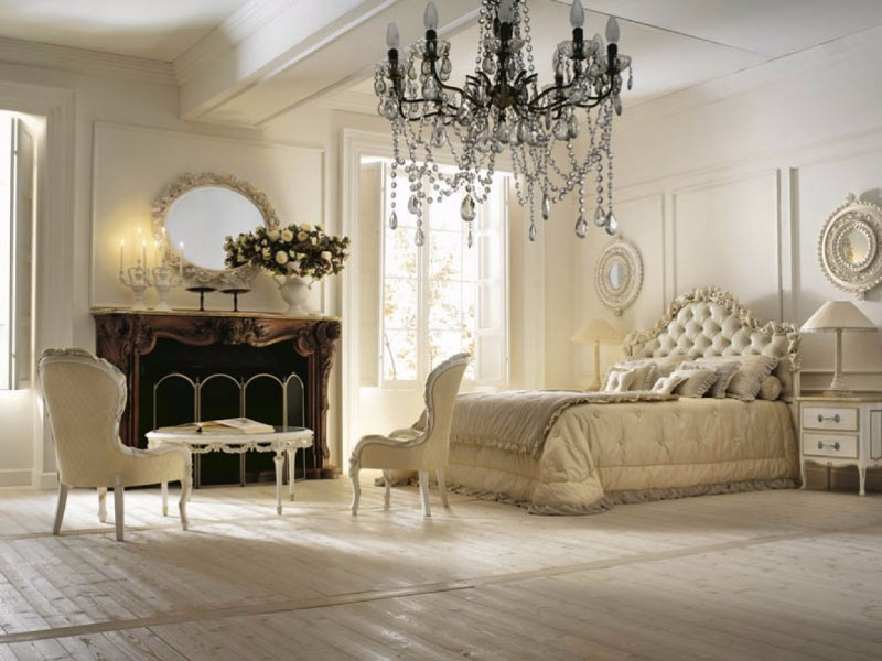 french style 10 French Style Master Bedrooms Opulent French Style Master Bedroom Inspiration Iideas crystal chandelier cream tones