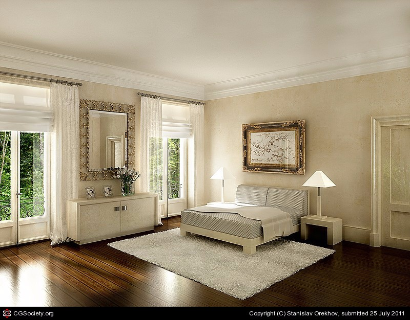 bedroom design Bedroom Designs by Top Interior Designers: Stanislav Orekhov The classical bedroom interior by Stanislav Orekhov
