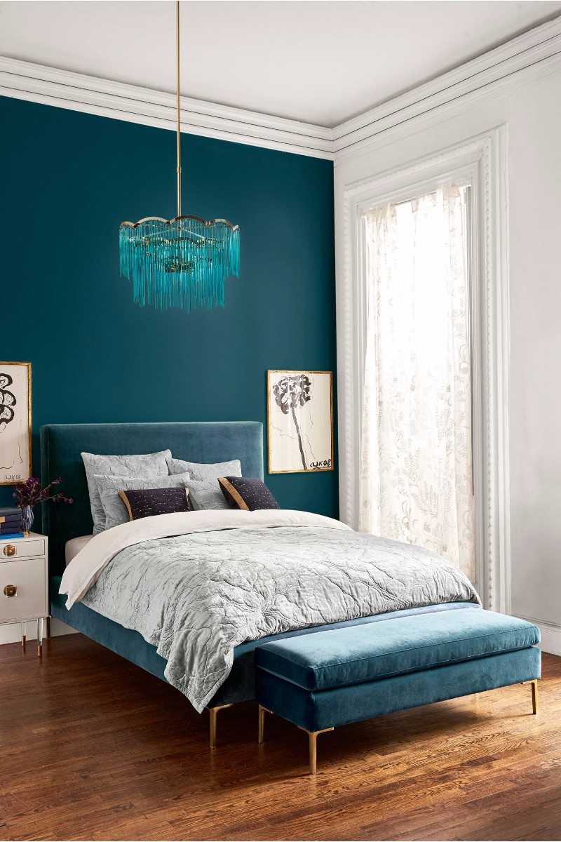 lighting design 10 Extraordinary Suggestions for Master Bedroom Lighting Design exquisite blue chandelier modern master bedroom design ideas inspiration