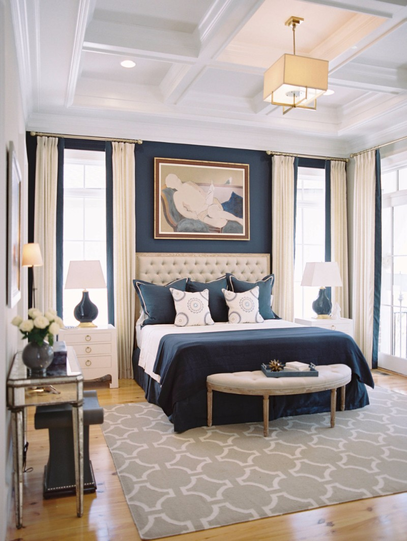 tufted headboard Sublime Tufted Headboards for Master Bedroom Décor exquisite modern master bedroom design inspiration ideas tufted headboard navy themes