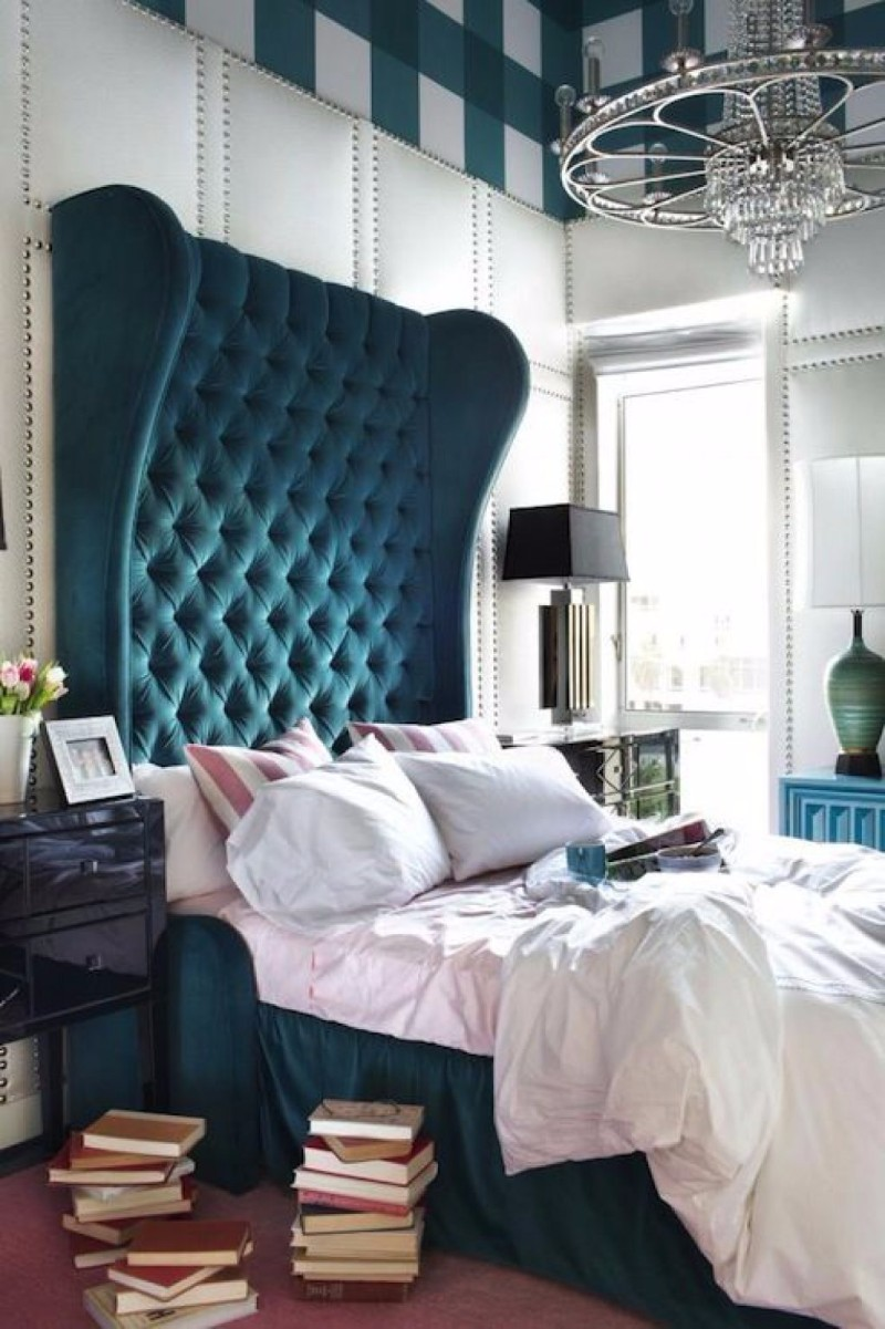 blue bedroom 10 Soothing Blue Bedroom Designs gorgeous over the top blue headboard modern bedroom design inspiration ideas