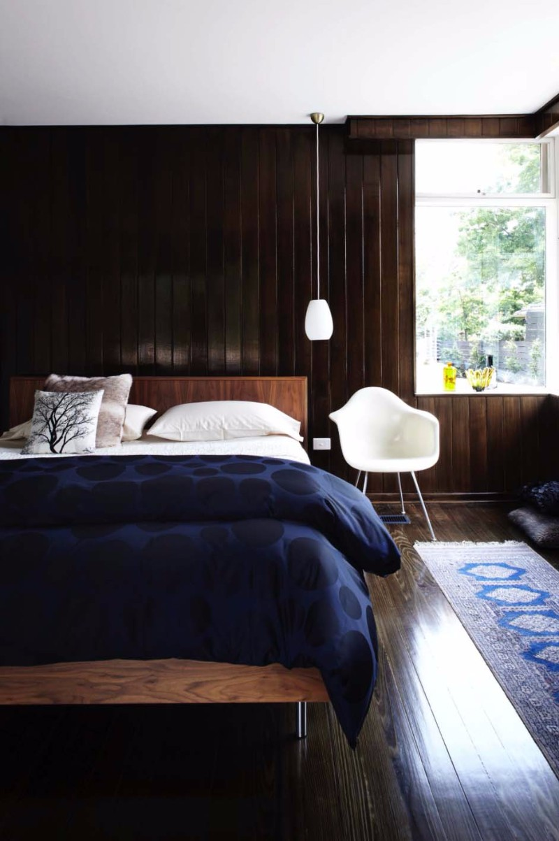 mid century modern home mid century modern home Bedroom Inspiration for Mid Century Modern Homes mid century modern bedroom inspiration ideas blue blanket retro chair