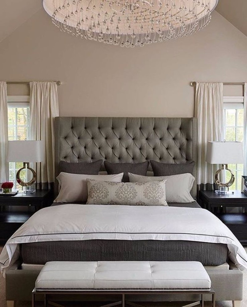 Grey Master Bedroom: Sublime Tufted Headboards For Master Bedroom Décor