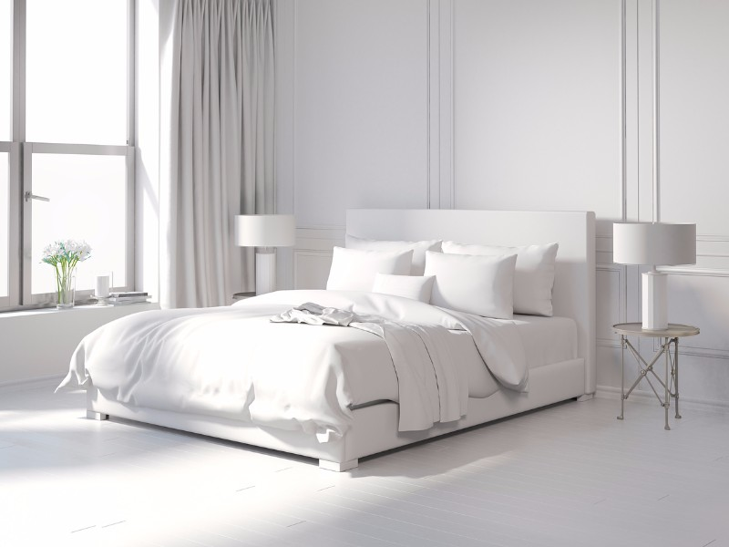 All White Bedroom 10 Calm And Charming All White Bedrooms Pure White  Bedroom Design Ideas Modern